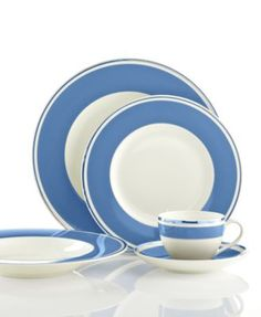 Villeroy & Boch Dinnerware, Anmut Colour Sky Blue Collection