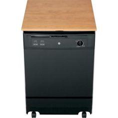 Ge Convertible Portable Dishwasher In Black 64 Dba