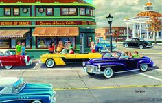 Step back in time to a town in the 1950's in this 1000-piece jigsaw puzzle by Sunsout. Here you'll find a busy music center, county library, and cool convertible cars while everyone gives a friendly greeting. Artwork is done by Ken Zylla. The finished puzzle measures 19 inches by 30 inches.Sunsout offers an incredible range of jigsaw puzzles, with piece counts from as small as 48 pieces to as high as 6,000 and they come in over 70 unique shapes and sizes. Every one of their products is…
