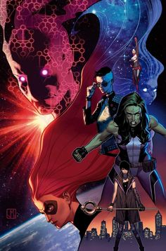 As Antimatter grows increasingly dangerous, SHE-HULK, CAPTAIN MARVEL, MEDUSA, DAZZLER and NICO MINORU must put aside their differences and learn to become a real team – the team Singularity knows they can be – before it's too late. • When a desperate battle in space with Antimatter goes awry it may be the death of one of them, just as this new team is beginning to find its way. • Meanwhile Tempest Bell's analysis of Antimatter may not bode well for the future of A-Force.