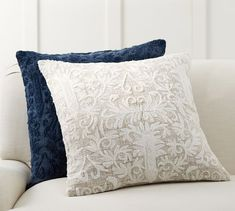Find throw and accent pillows from Pottery Barn to easily update your space. Shop our pillow collection to find decorative pillows in classic styles, prints and colors. Pottery Barn Furniture, Cheap Bedroom Furniture, Kitchen Furniture, Neutral Pillows, Accent Pillows, Applique Pillows, Pillow Texture, Up House, Velvet Pillows