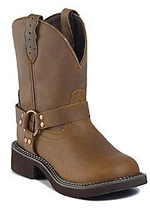 Justin� Gypsy� Ladies Bay Apache Harness Round Toe Western Boots