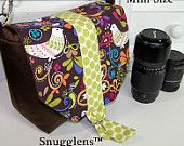 DSLR  Padded Camera Carrier Bag MINI birds of norway Digital SLR cozy case Sale Reg 70-Ready to Ship-Snugglens