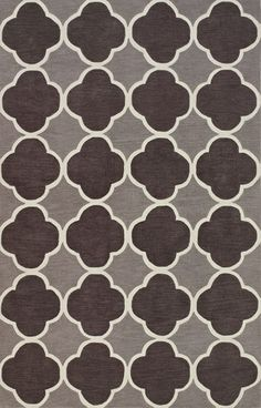 Infinity IF2 Charcoal Rug from the Bauhaus I collection at Modern Area Rugs