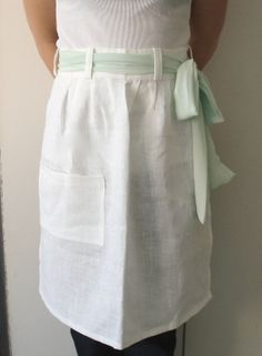 Linen Apron by Limonera on Etsy, $17.00