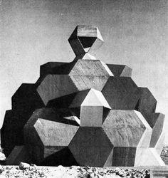 Zvi Hecker ~ Sinagoga del Desierto del Negev 1966-1969