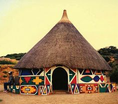 African mud house