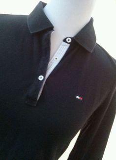 Tommy Hilfiger Women's Polo Shirt Long Sleeve Black #TommyHilfiger #PoloShirt