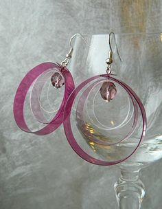 Earrings from Plastics