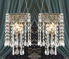 set of 2 clear acrylic crystal breads tealight candle holder chandelier shabby chic decorative decoration candle decorative modern pendant lamp