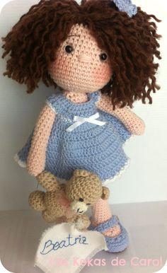Amigurumi crochet doll sweet cuddly doll with knitted dress Галина Черкасова Knitting Dolls Free Patterns, Knitted Dolls Free, Crochet Doll Pattern, Crochet Dolls, Doll Patterns, Cute Crochet, Crochet Baby, Yarn Dolls, Bebe