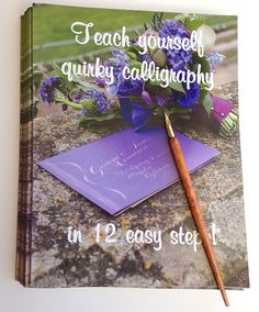 Quirky Calligraphy Starter Kit Wedding Invitation