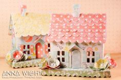 So sweet for Easter & Spring decorations around the house... Sizzix Die Cutting Tutorial | Spring Country Cottages by Anna Wight