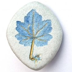 Handmade Blue Motherwort Pin, unique and one of a kind! by Walk in the Woods (I have one of her Sage pendants. I Love it)