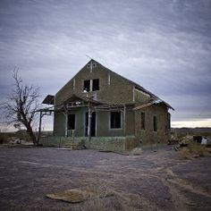 Ludlow California, abandoned house, Mojave Desert