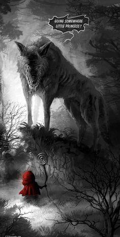 Méchant loup et chaperon rouge...