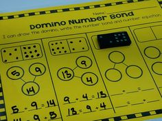 Differentiated Domino Math centers with number bonds