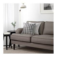 STOCKSUND 2:n istuttava sohva - Nolhaga harmaanbeige, musta - IKEA