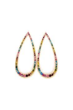 Fashion Jewelry Earrings Watercolor Teardrop