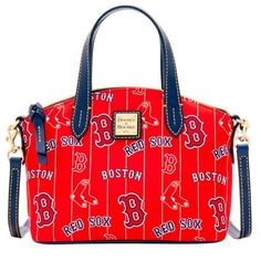 Boston Red Sox Dooney & Bourke Women's Team Color Nylon Ruby Satchel - Red - $168.00