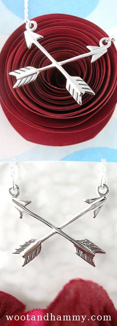 Crossed Arrows of Friendship Necklace.The symbol of crossed arrows to signify friendship has its roots in Native American culture. And arrows themselves have long been associated with Cupid and love, with other connotations as well, as in 'straight arrow', meaning an honest or genuine person.