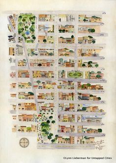 Fun Maps: NYC From Union Square to Madison Square... Lynn Lieberman's watercolor map takes you from Union Square Park to Madison Square Park, showing architectural highlights in Gramercy Park and Irving Place