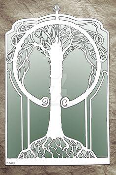 Art Nouveau Tree by Syreene