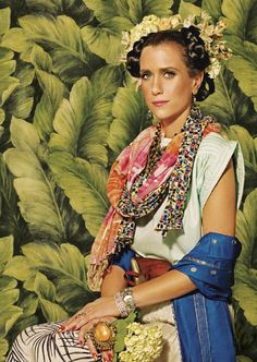 Kristen Wiig, photo by Tom Allen // Pinterest suggested this for my celeb crushes board, and I am impressed with the accuracy. Kristen Wiig as Frida Kahlo is pretty much a synopsis of my attractions.