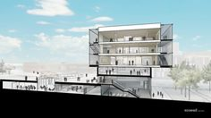 Ennead Architects Reveal Proposal for Tianjin Academy of Fine Arts Expansion,© San Labs for Ennead Architects