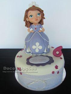 Doces Opções: Bolo com a princesa Sofia para o aniversário da An...