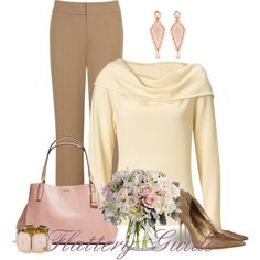 A fashion look from March 2014 featuring Viyella pants, Sam Edelman pumps and Coach tote bags. Browse and shop related looks.