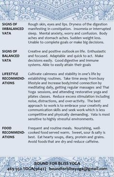 Vata Dosha Characteristics 2