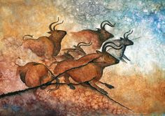 Jo Houtz:  Watercolor on Japanese Masa Paper, which creates a unique effect by soaking and waddling the paper. See her web site for demonstration of the paper.     The Ancients Series or Cave Paintings, Wildlife, Birds,  Flowers and Miscellaneous subjects.