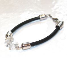 #Herkimer #Diamond #Bracelet Herkimer #Quartz #Jewelry by #FizzCandy, $53.00