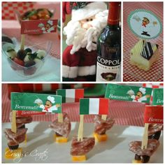 We had a fun Christmas Eve Eve Celebration last night! I had some left over party supplies from our Girl Scouts Italian Night so we had a. Italian Night, Holiday Nights, Girl Scouts, Christmas Eve, Italian Recipes, Party Supplies, Entertaining, Table Decorations, Fun