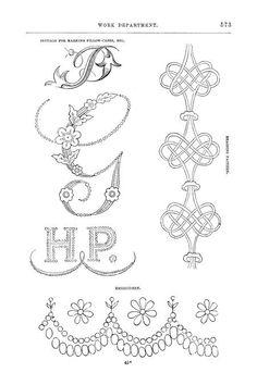 Antique Embroidery Monogram