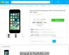 iPhone 5S 16GB Cinza Espacial R$ 1.199,00 em 1X no CARTÃO SUBMARINO