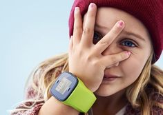 A children's watch/phone that is equipped with GPS so parents can keep track of their kids' whereabouts on their smartphones.