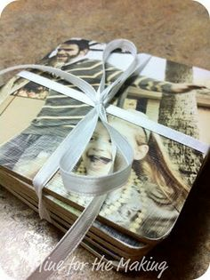 DIY Photo Coasters {tutorial}  LOVE this for gift idea..and it looks so easy and cheap!