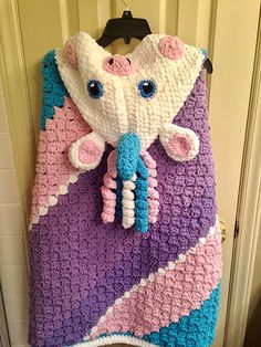 Crochet Unicorn Blanket...FREE PATTERN - Bernat Blanket Yarn