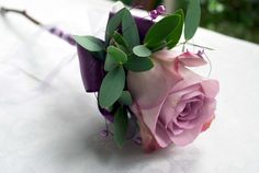 Lilac rose wand - Laurel Weddings, Wedding Flowers