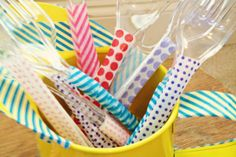 Washi Tape Picnic Utensils