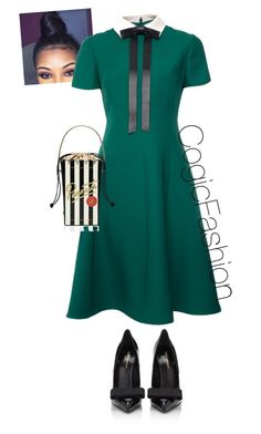"""""""COGIC"""" by cogic-fashion on Polyvore featuring Valentino, Yves Saint Laurent and Kate Spade"""