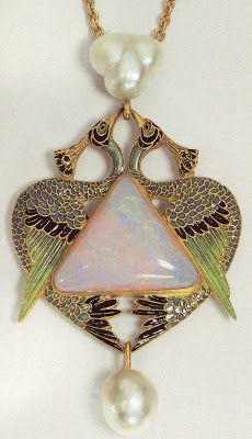 Art Nouveau artists - Lalique Jewelry. Pendants...He removed the superstitions about opal that were prevalent in the early 19th century!