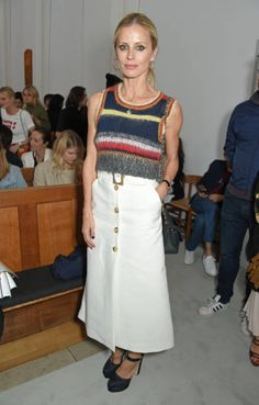 Laura Bailey attends the ALEXACHUNG London Launch Summer 17 Collection Reveal at the Danish Church of Saint Katharine on May 30 2017 in London England Laura Bailey, Alexa Chung, Pop Fashion, Denim Fashion, Fashion Corner, Spring Summer Trends, Spring Outfits, Style Inspiration, Style Ideas