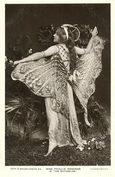 Butterfly girl.  Would love a vintage costume like this!