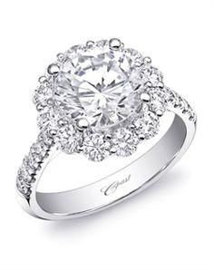 Coast Diamond Round Halo Engagement Ring LZ0245