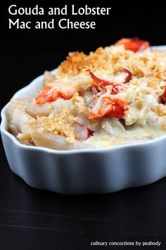 Gouda and LOBSTER Mac n' Cheese - wow, make with cauliflower for low carb