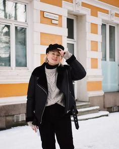 DIY: OHJE HELPPOON VILLAPAITAAN x 2 | Fashion Statement Signature Look, Scandinavian Style, Bomber Jacket, Zara, Valentines, The Originals, Outfit, Jackets, Winter