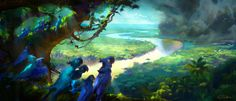Nathan Fowkes concept art for Rio 2